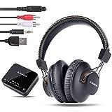 Avantree HT4189 Auriculares Inalambricos TV con Transmisor Bluetooth, Soporta Óptica, RCA, AUX de...