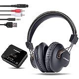 Avantree HT4189 40 Horas Auriculares Inalambricos TV con Transmisor Bluetooth, Soporta Óptica, RCA,...